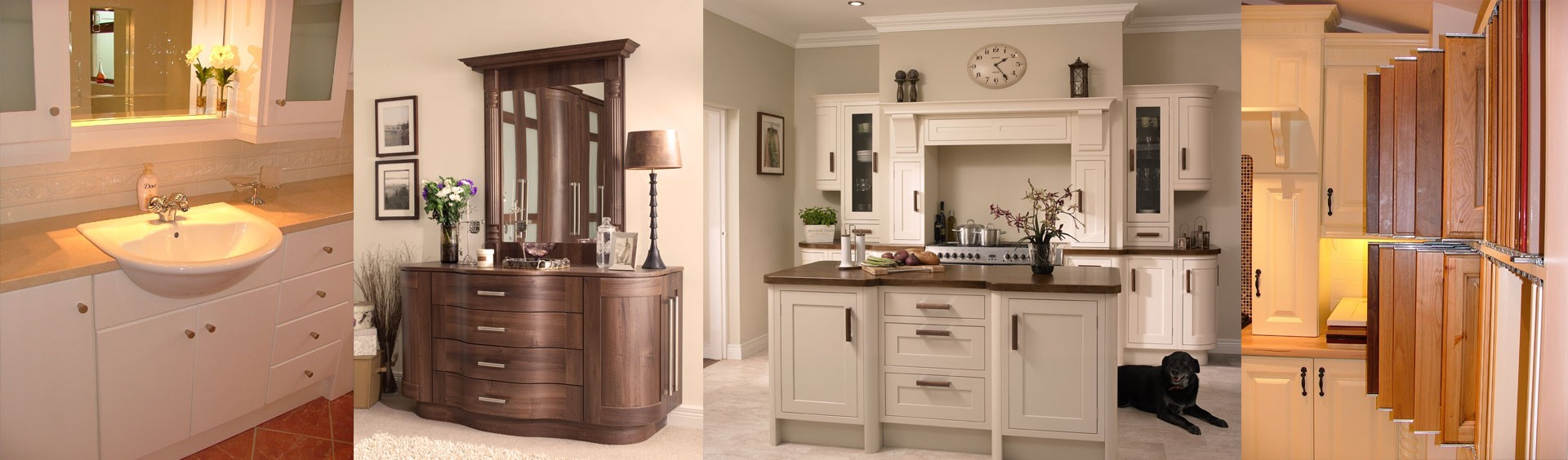 Examples of our work solid wood, kitchen vanity unit bathroom, bedroom dressing table