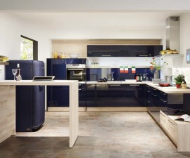 Lacquered Midnight Blue High Gloss Kitchen