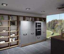 Lacquered Slate Grey High Gloss Kitchen