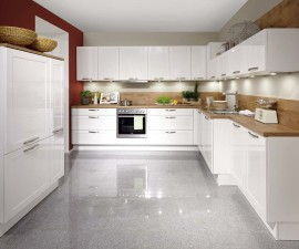 Lacquered Alpine White High Gloss Kitchen