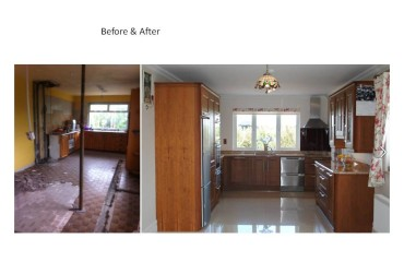Solid bespoke Cherry Kitchen renovation Clare Limerick