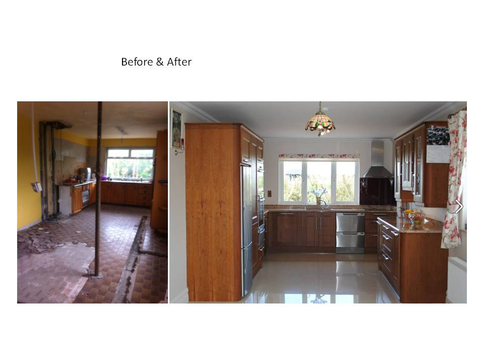 Solid bespoke Cherry Kitchen renovation Clare Limerick
