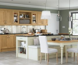 Traditional Kitchen with a modern twist Madison oak painted ivory kitchen