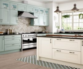 wakefield painted ivory powder blue kitchen